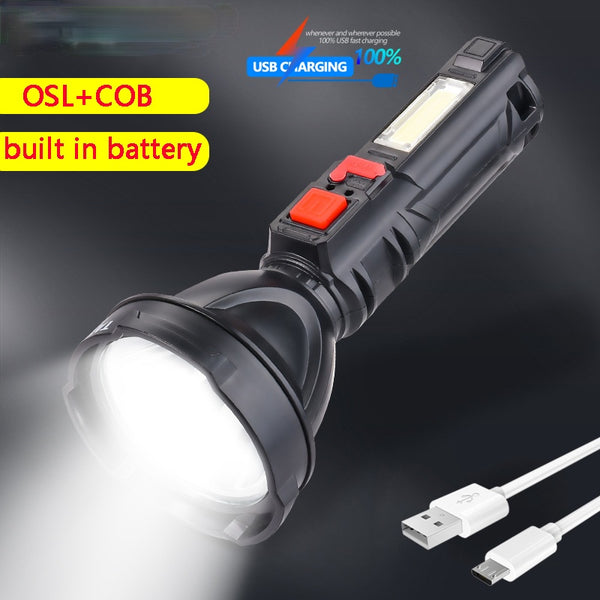20000LM 4-gear 500m Long Range Flashlight USB Charging Flashlight Lantern Torch COB Work Light with built-in battery