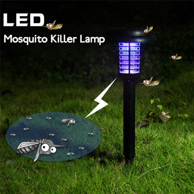Solar Powered Plastic Waterproof LED Mosquito Killer Lawn Light