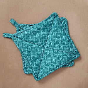 Printed Teal Potholder