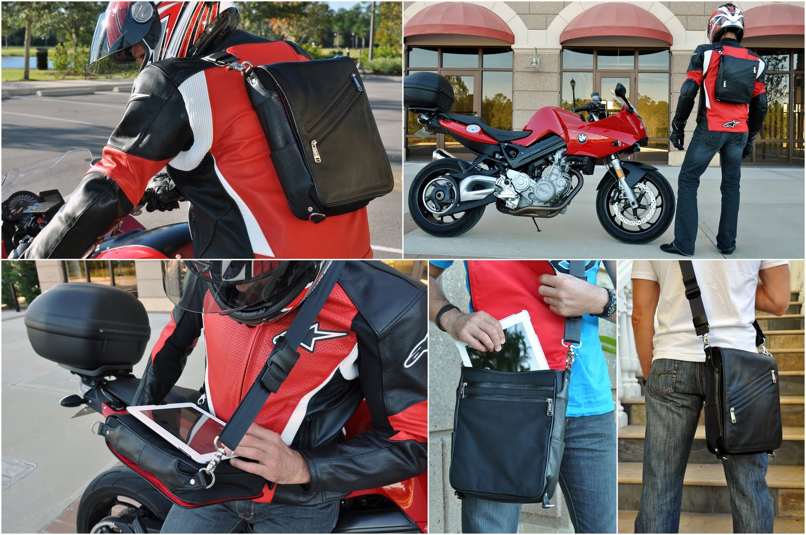 Platforma - iPad messenger bag perfect for motorcycle riders