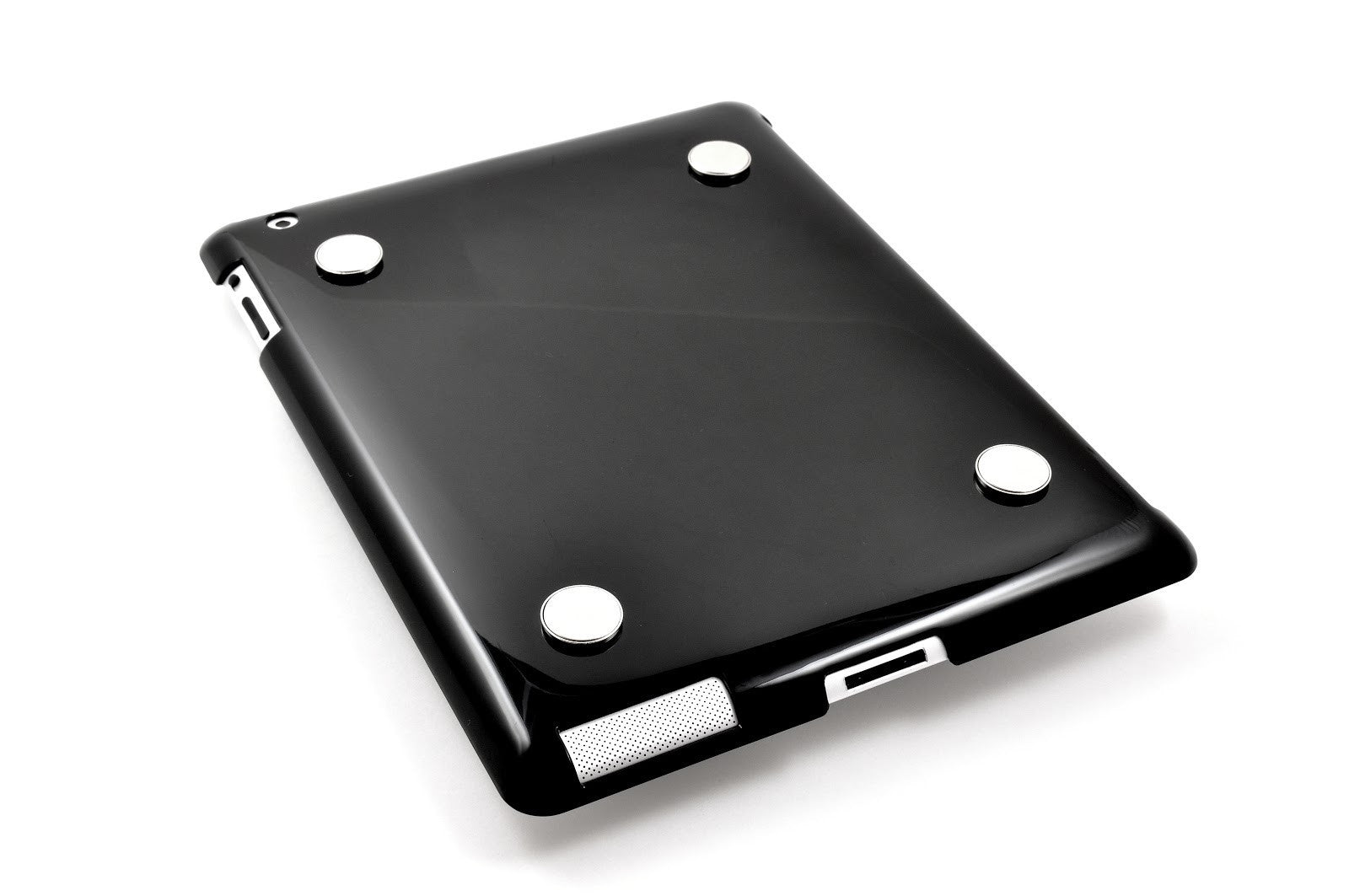 Black iPad plastic snap-on case/cover with magnets