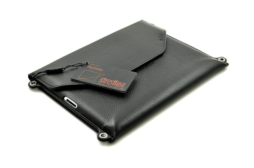 Leather iPad case ACROSS from Strotter