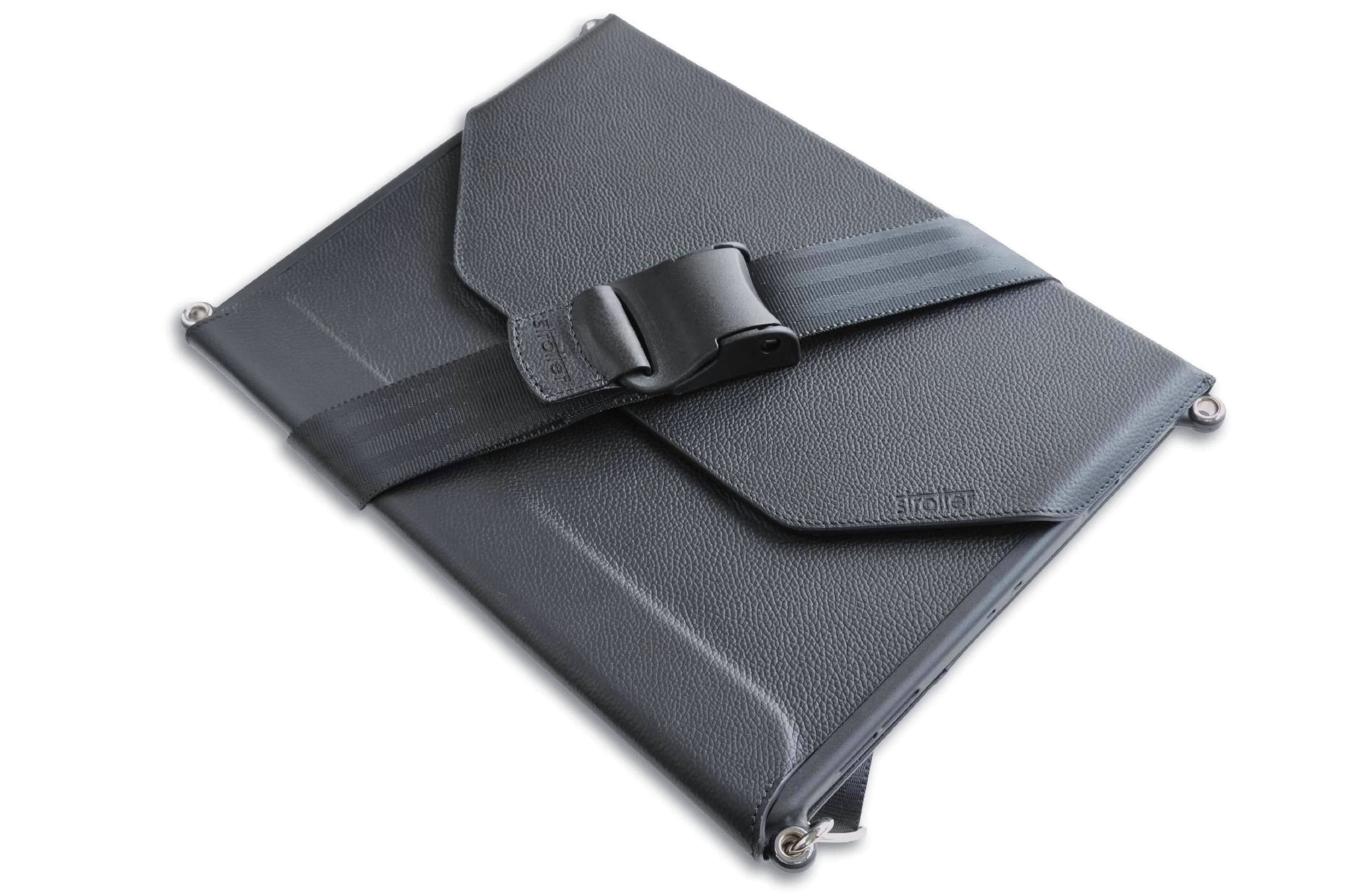 "3rd generation iPad Pro 12.9"" 2018 carrying case with shoulder strap by Strotter."
