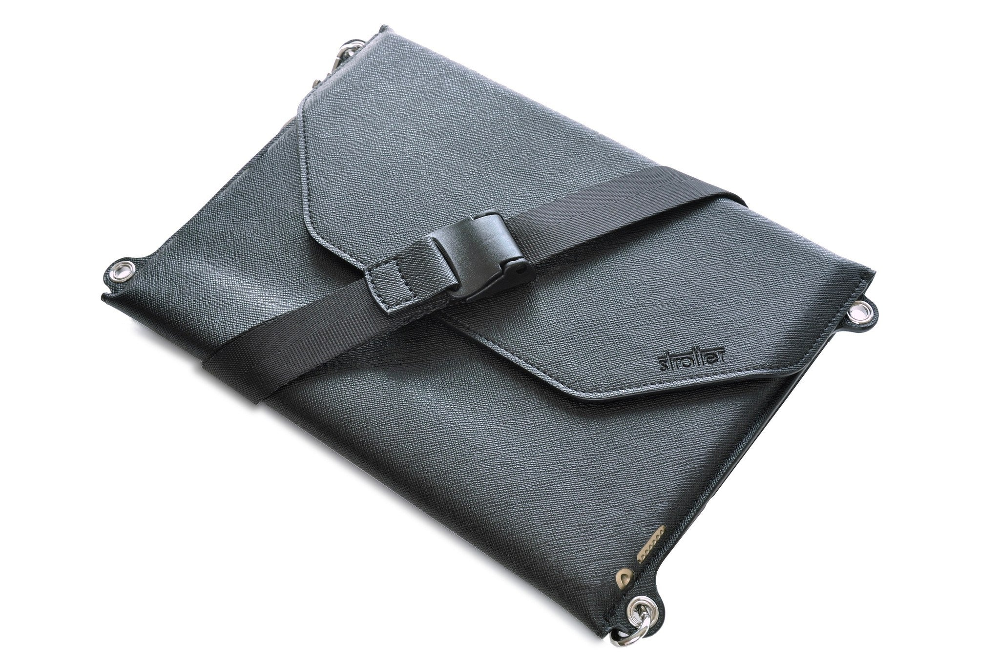 Synthetic leather carrying case with shoulder strap for iPad Air