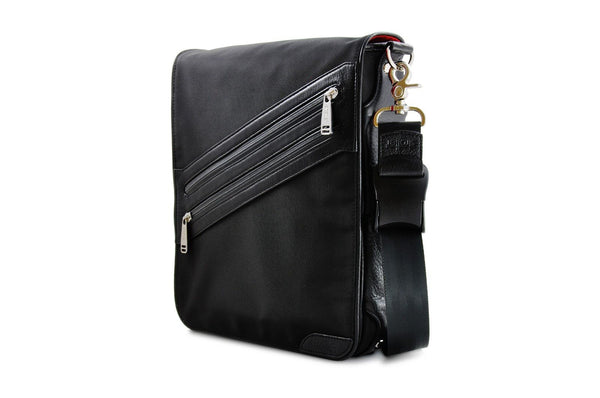 vertical iPad messenger bag