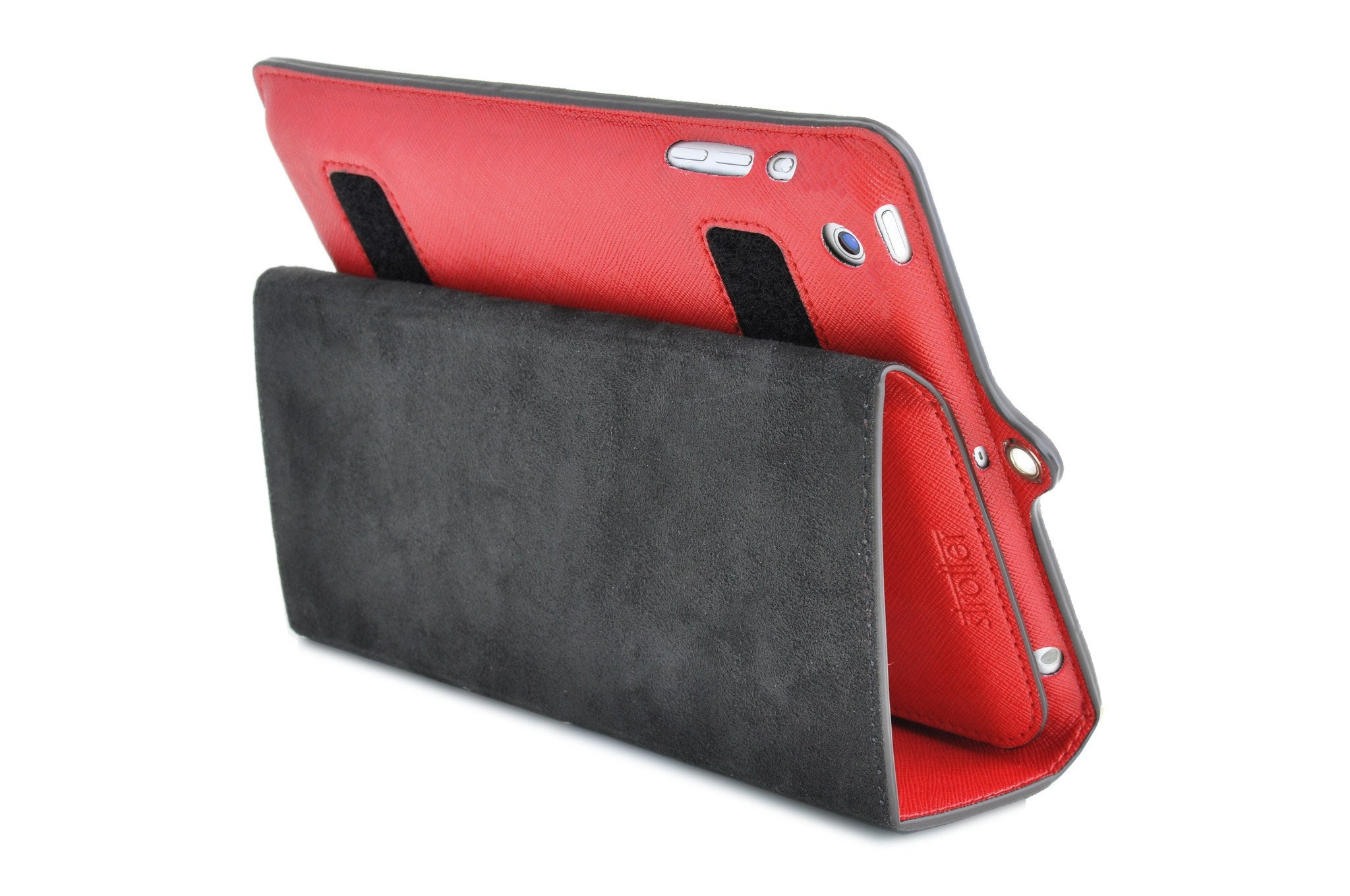 Across case for iPad Mini. Back view.