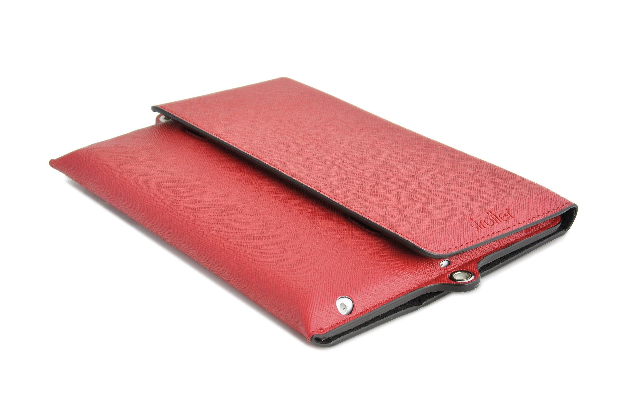 Across case for iPad Mini. Flap closed.
