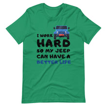 Load image into Gallery viewer, I Work Hard Car T-Shirt
