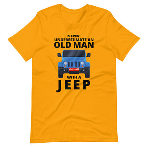 Old Man With A Jeep Car T-Shirt