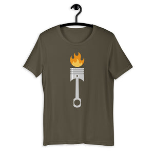 Flaming Piston T-Shirt