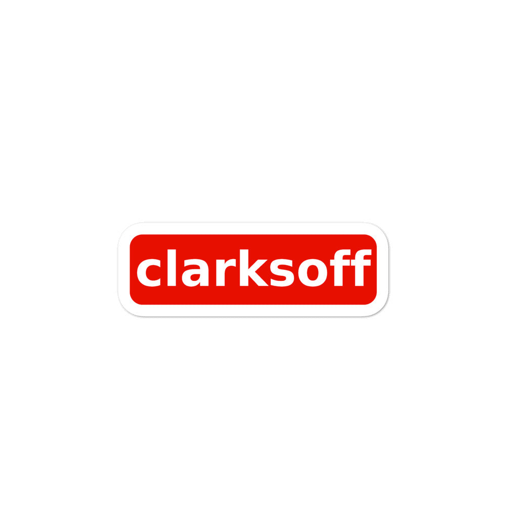 Clarksoff Stickers