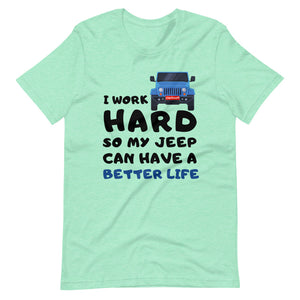 I Work Hard Car T-Shirt