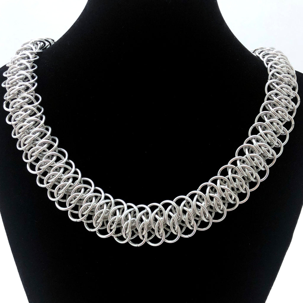 Viperscale Silver Necklace