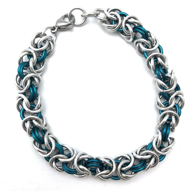 Dual Coloured Chainmaille Bracelet