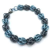 Blue and Grey Sweet Pea Bracelet