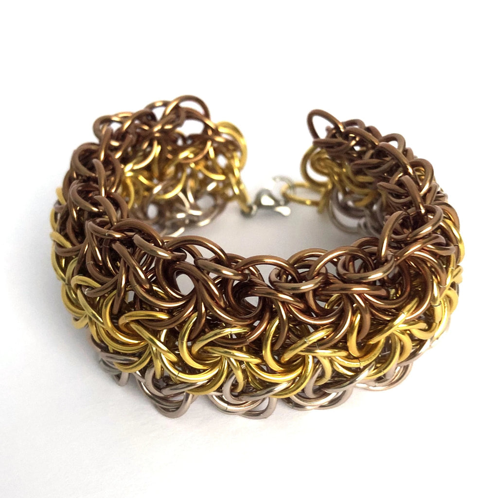 Ombre Rose Bronze-Gold Cuff