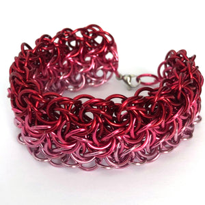 Ombre Rose Red - Pink Cuff