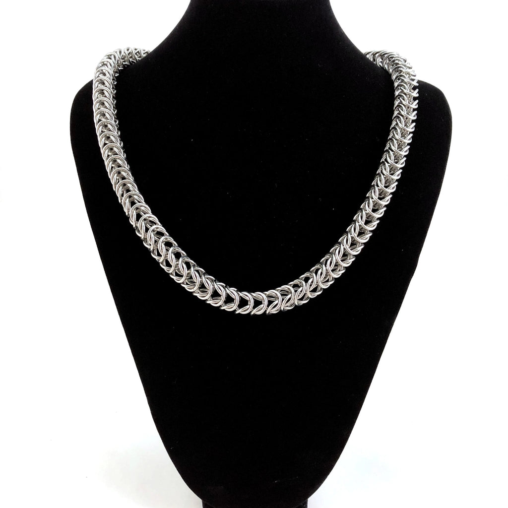 Stainless Steel Box Weave Necklace