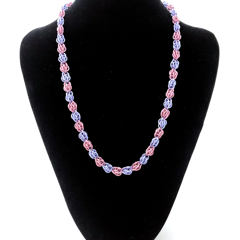 Pink and Purple Sweet Pea Necklace