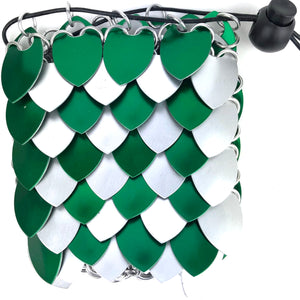 Green and Silver Dice Bag