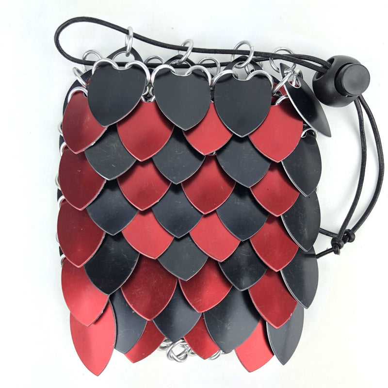 Black and Red Stripe Small Dice Bag