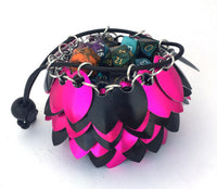 Pink and Black Small Dice Bag