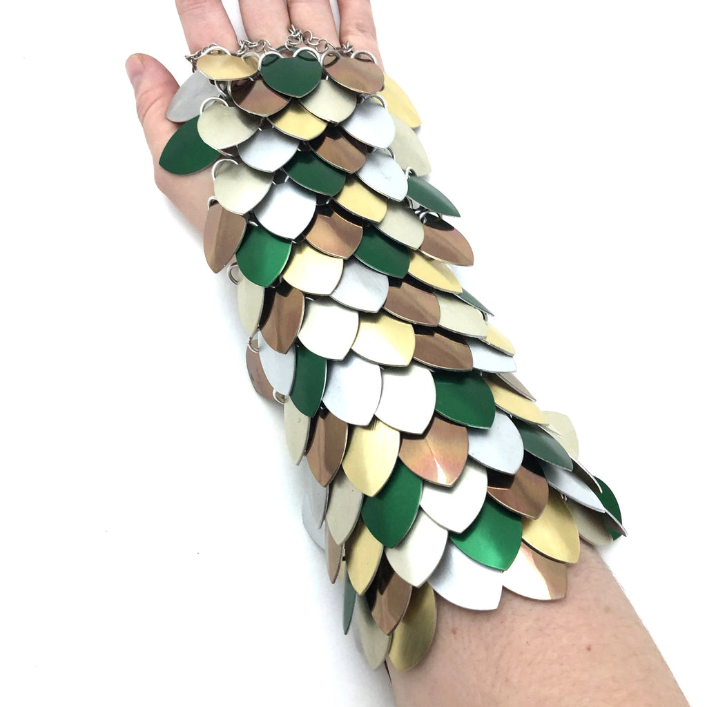 Scalemaille Bracer - Three Finger Rings