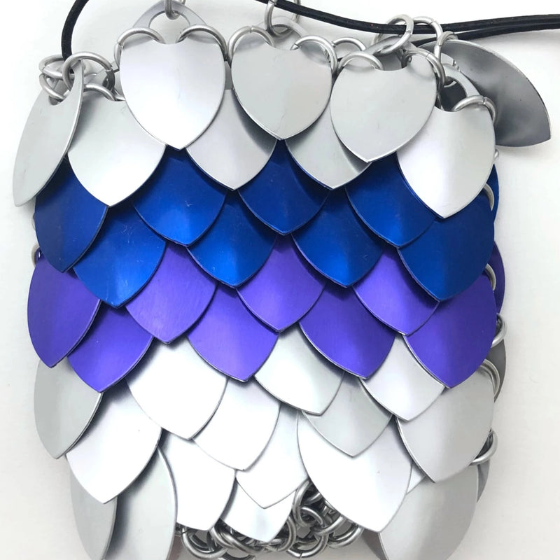 Silver, Blue and Purple Small Dice Bag