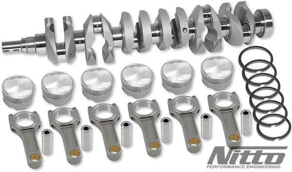 Nitto RB26 to RB27 Stroker Kit (I-BEAM RODS / 86.5MM or 87MM BORE)