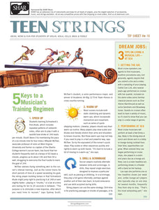 Teen Strings Tip Sheet #16: 5 Keys to a Musicians Training Regimen
