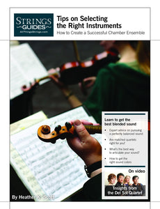 Creating a Successful Chamber Ensemble: Tips on Selecting the Right Instruments