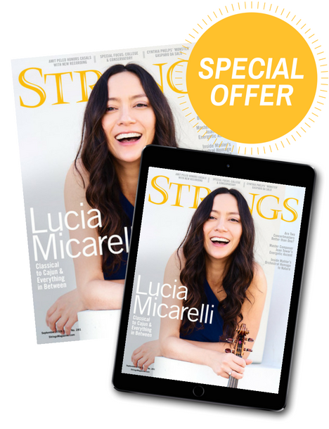 Annual Subscription to Strings Magazine - VSA Members Special Offer