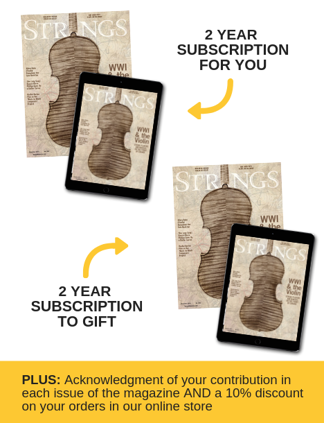 Strings Magazine Sustaining Subscriber