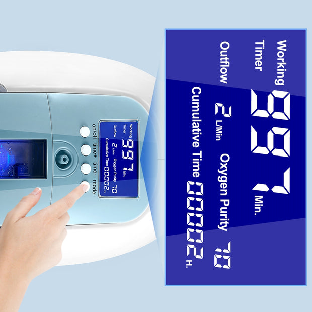 LCD Display Handle Oxygen Concentrator ZH-J11