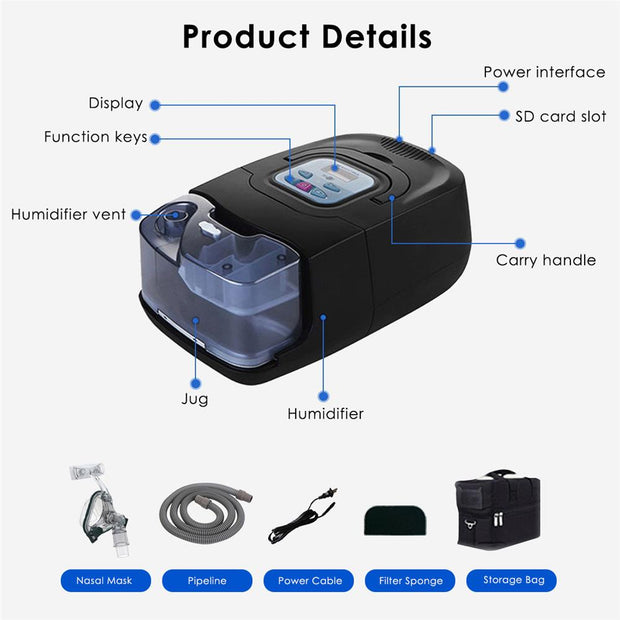 BMC 680A Auto CPAP/APAP Machine with Humidifier