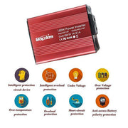 150W Car Power Inverter DC 12V to 110V AC Car Converter with 3.1A Dual USB Car Adapter-Red-TTLIFE OXYGEN CONCENTRATOR