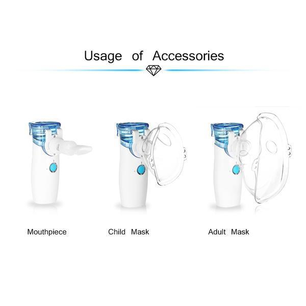 Handheld Personal Steam Inhaler for Asthma COPD Steam Vaporizer USB Rechargeable-oxygen concentrator