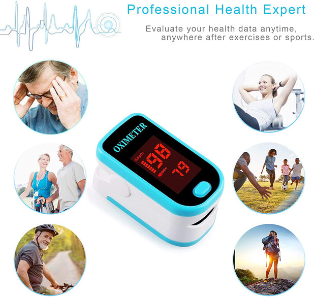Fingertip Pulse Oximeter Blood Oxygen Sensor