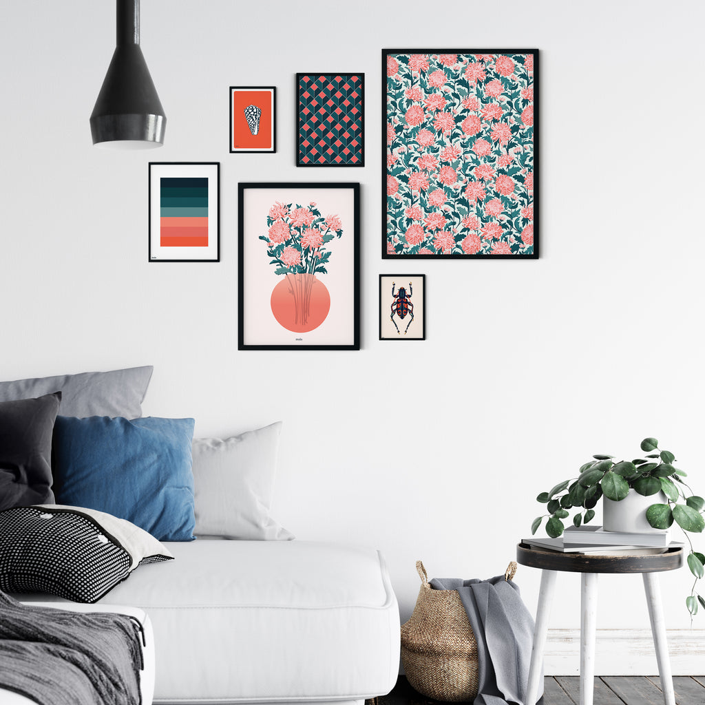 JAPANESE FLOWERS - הדפס פטרן פרחים Small/Large poster
