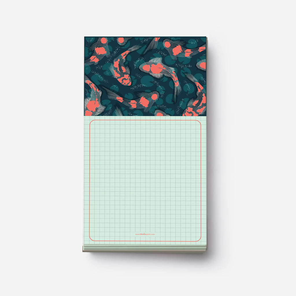 JAPANESE KOI FISH - פנקס פטרן דגים Medium notepad