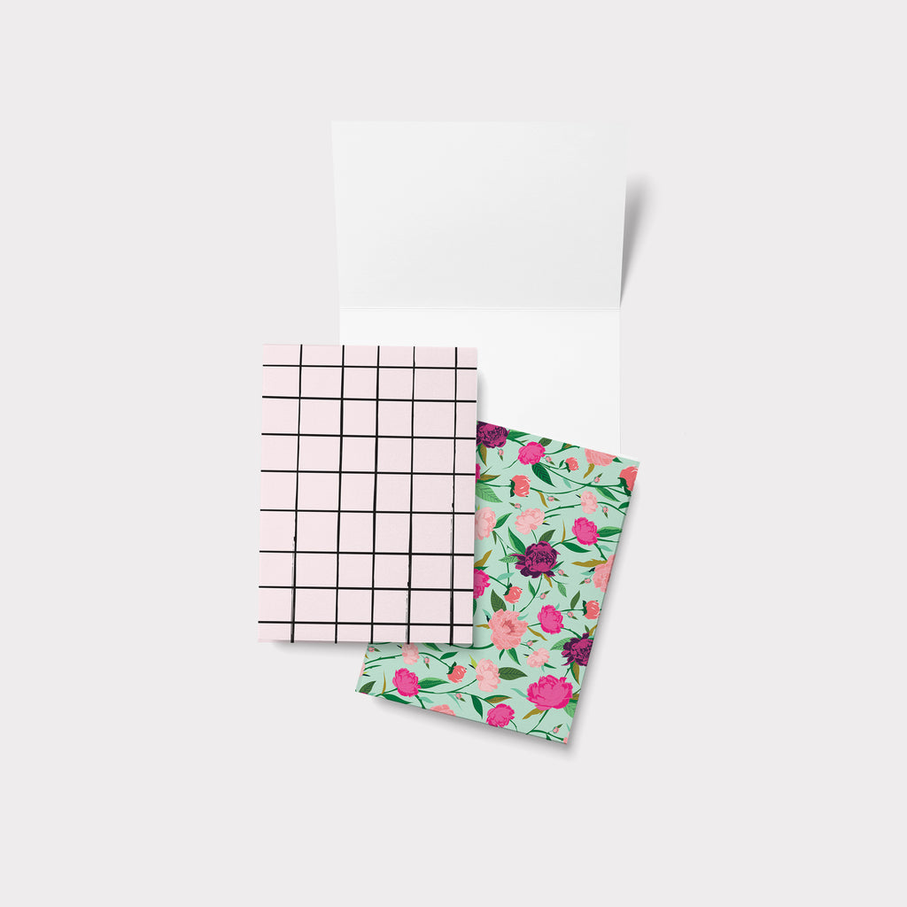 GRID & FLOWERS - גריד ופרחים greeting card