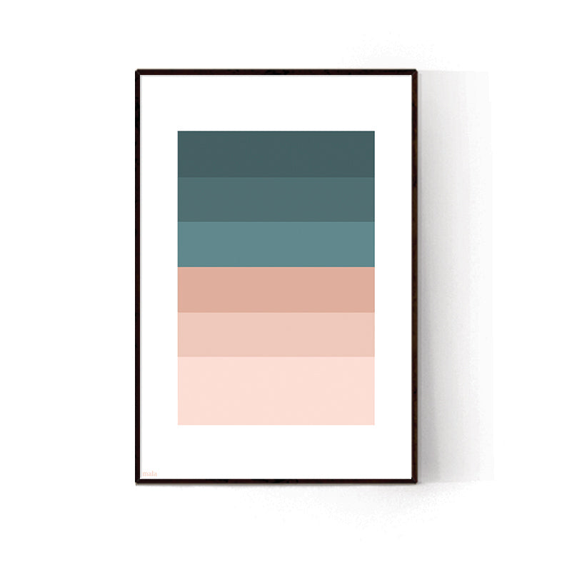 PEACH & BLUE PALETTE - הדפס פלטת צבעים Small poster