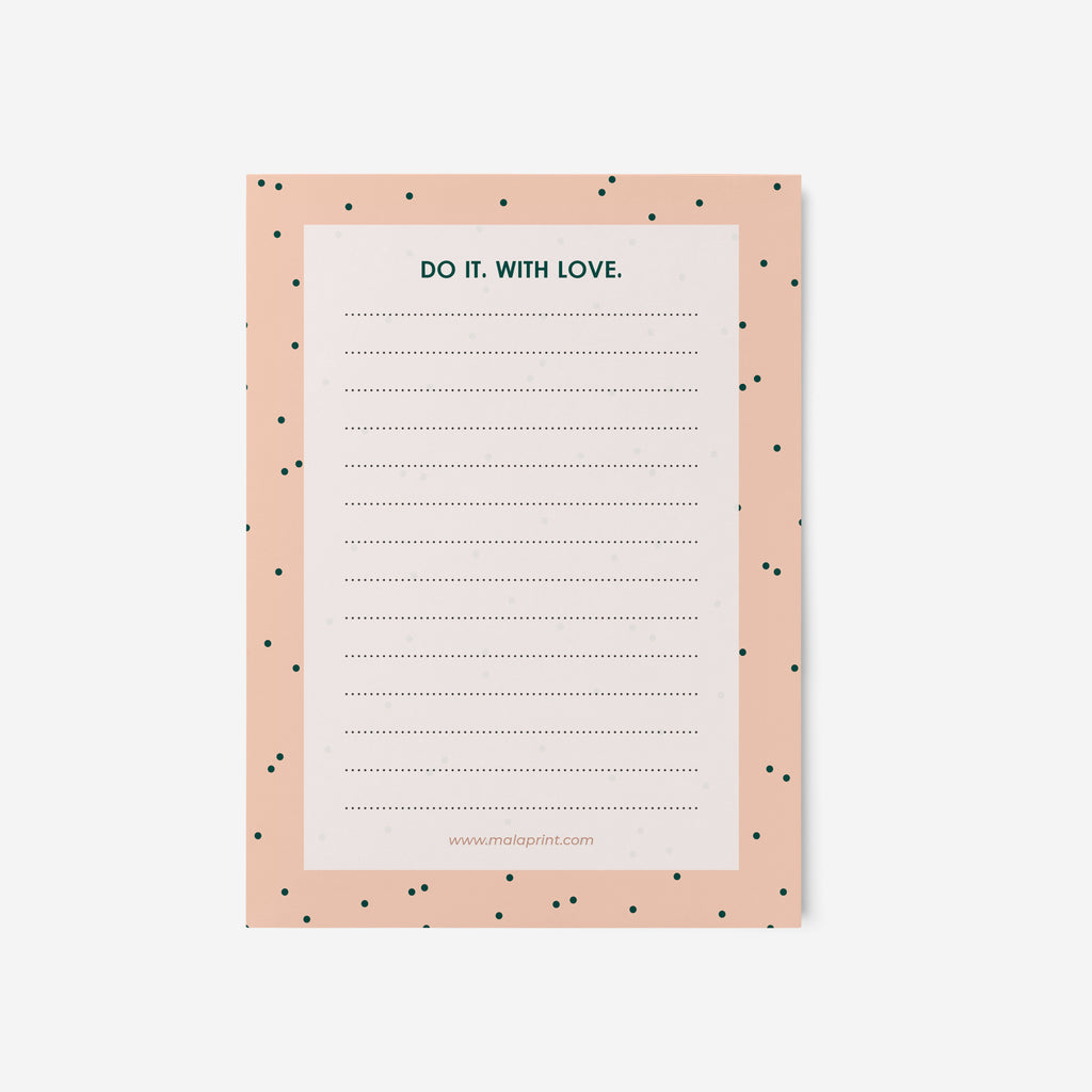 DO IT. WITH LOVE- פנקס נקודות Small notepad