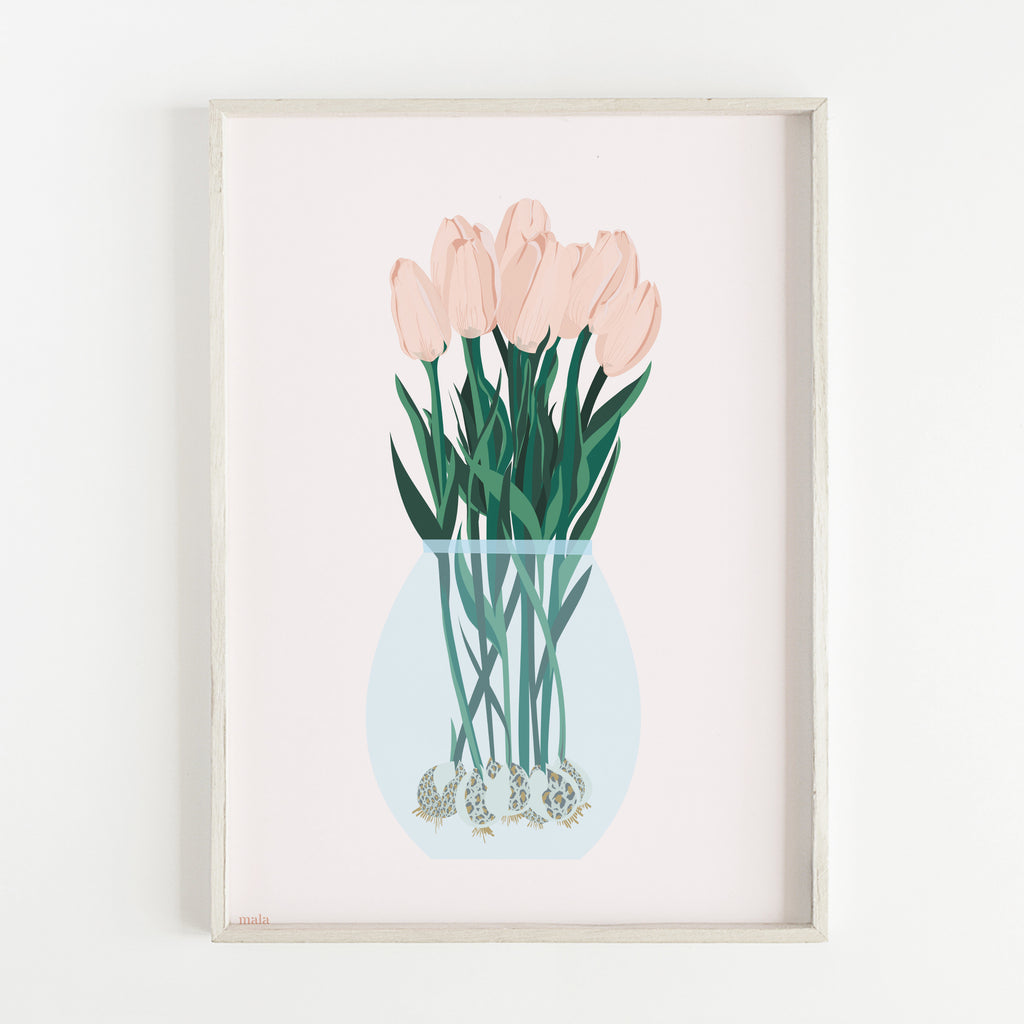 TULIPS BOUQUET - הדפס אגרטל טוליפים  Medium/Large poster