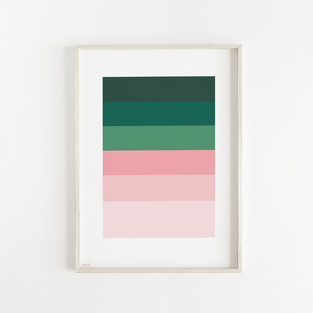 PINK & GREEN PALETTE - הדפס פלטת צבעים  Small poster