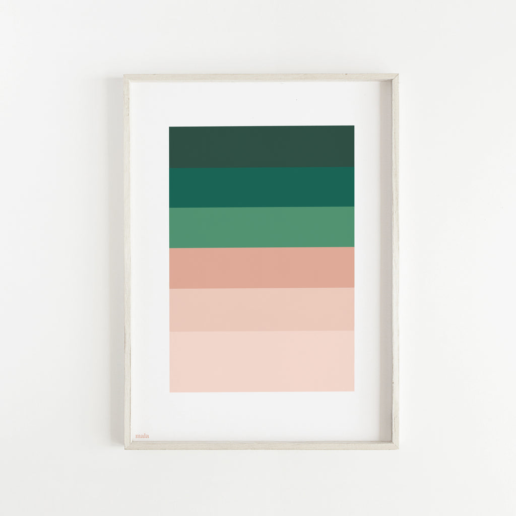 PEACH & GREEN PALETTE - הדפס פלטת צבעים  Small poster