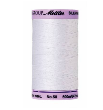 Silk-Finish 50wt Solid Cotton Thread