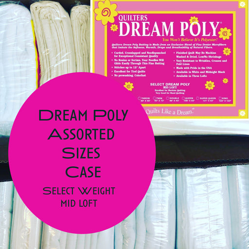 Dream Poly Select (mid loft weight) Assorted Sizes Case - The Modern Quilting Company