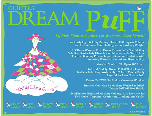 Dream Puff Throw Size Case 12 Pack - The Modern Quilting Company