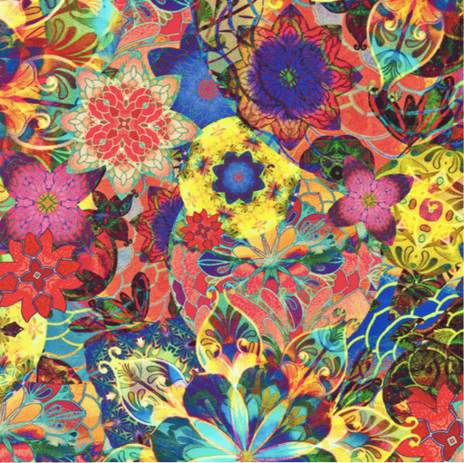 PRE-Order Flower Multi 108in Wide Sateen - The Modern Quilting Company
